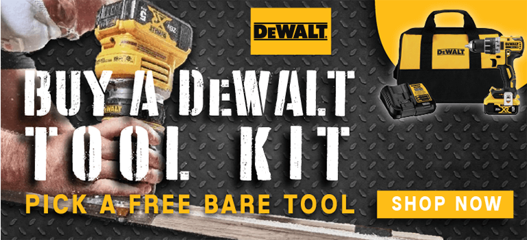 Buy a DeWALT Tool Kit and Pick a FREE Bare Tool