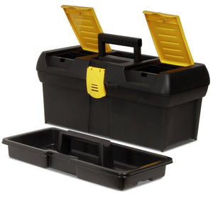 Stanley 016011R 16-Inch Series 2000 Two Lid Built-In Padlock Tool Box