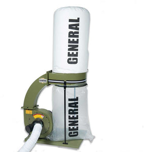 General International 10-105DASM1 110V 1.5 HP Dust Collector w/ Canister Filter