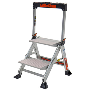 Little Giant 11902 2-Step Heavy Duty Portable Aluminum Jumbo Stepstool