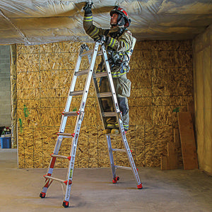 Little Giant 15182-882 22-Foot Defender Type IA Ladder w/ Levelers, Heat Sensors