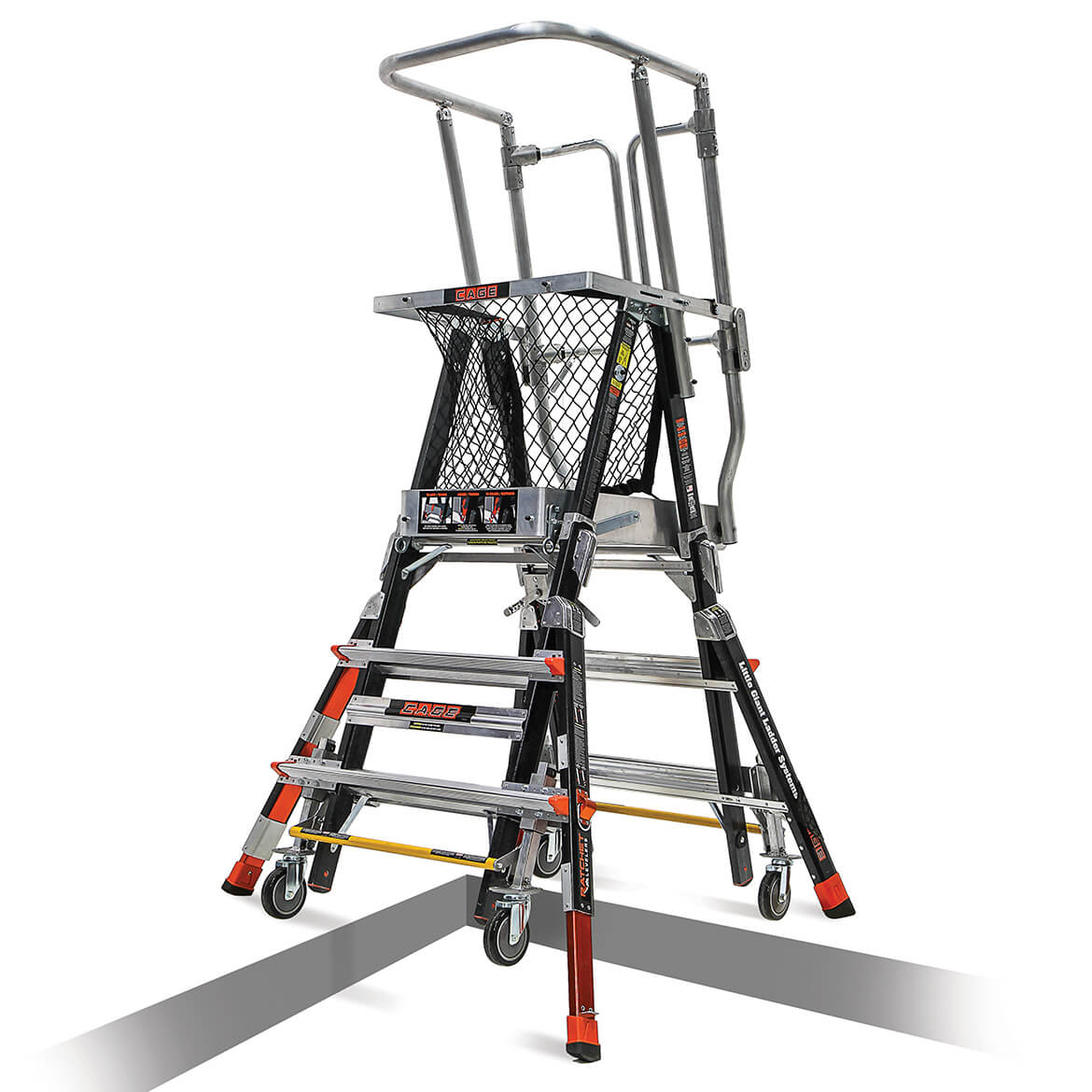 Little Giant 18503 817 3 To 5 Foot Fiberglass Safety Cage Platform Lad Maxtool
