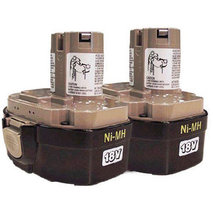 Makita 194158-6 1834 18V 2.6 Amp Hour NiMH Pod Style Battery 2 Pack