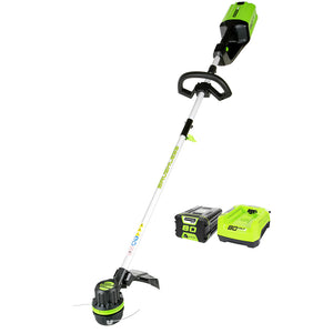 GreenWorks ST80L210 80-Volt 16-Inch Cordless String Trimmer Kit - 2100102