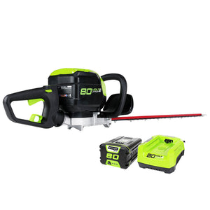 GreenWorks GHT80320 80-Volt 24-Inch 2.0Ah Cordless Hedge Trimmer Kit - 22372