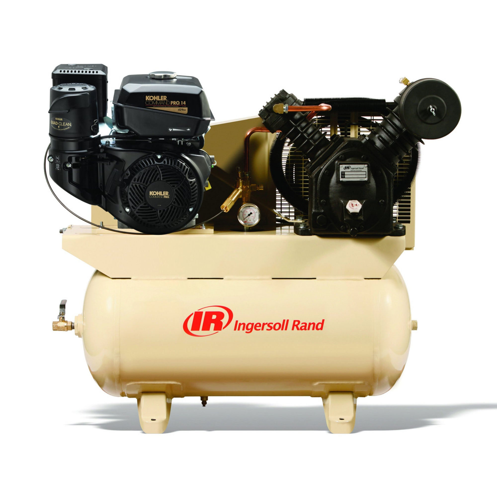 Ingersoll Rand 2475F14G 30HP 2 Stage Gas Truck Mount Air Compressor -  46821344