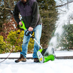 GreenWorks GBSS08000 12-Inch 8-Amp Durable Corded Snow Shovel