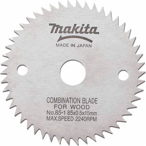 Makita 721003-8 3-3/8 In Saw Blade Dia 50 Teeth 15 Mm Carded