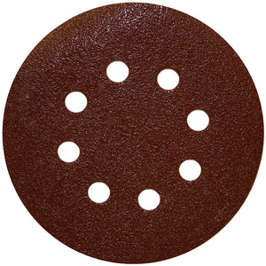 Porter-Cable 735800805 5-Inch 80 Grit 8-Hole Hook and Loop Sanding Discs 5-Pack
