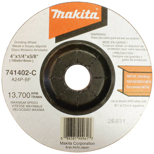 Makita 741402-9AP 4'' GRINDING WHEEL 5 Per Packet 9523NB
