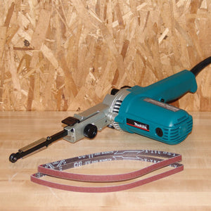 "Makita 9032 4.4 Amp 3/8"" Belt Sander Variable Speed Slim Design"