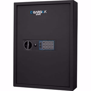 Barska AX13370 100 Key Solid Steel Cabinet Digital Keypad Black Wall Safe