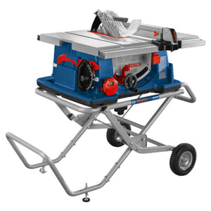 "Bosch 4100XC-10 15 Amp 10"" Worksite Table Saw w/ Gravity Rise Wheeled Stand"