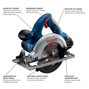 Bosch CCS180-B15 18V Circular Saw Kit 4.0 Ah Compact Battery - Reconditioned