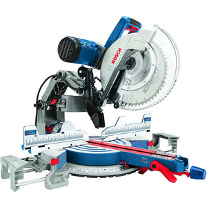 "Bosch GCM12SD 12"" 15 Amp Corded Dual Bevel Glide Compound Miter Saw Bench"