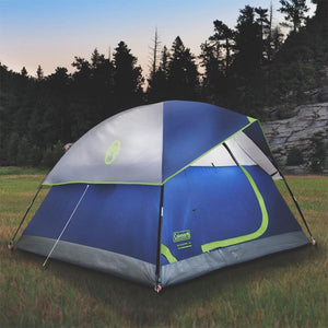 Coleman 2000034547 7 Foot x 7 Foot 3 Person Sundome Weathertec Tent, Blue