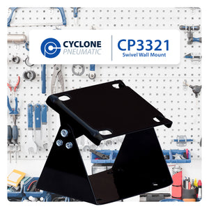 Cyclone Pneumatic CP3321 Heavy Duty Wall Mount Swivel For Air Hose Reels