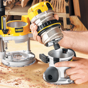 DeWALT 2-1/4 HP EVS Fixed Base Woodworking Router w/ Soft Start