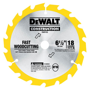"DeWALT 6-1/2"" 18-Tooth and 24-Tooth Blade Combo Pack (DW9155 & DW9154) - DW9158"