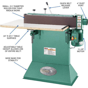 Grizzly G0512 110V/220V 6 Inch  x 80 Inch Edge Sander Wrap-Around Table