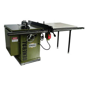 "General International 650-5/3-52 230/460V 5HP 3PH 10"" Deluxe Left Cabinet Saw"