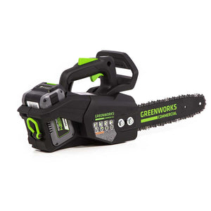 "GreenWorks Commercial 48TH12 48V 12"" Cordless Li-Ion Top Handle Chainsaw Kit"