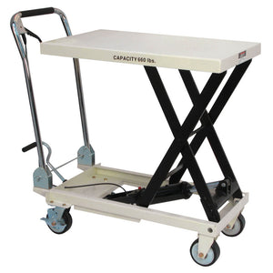 JET SLT-660F Scissor Lift Table Folding Handle 660-lb. Capacity