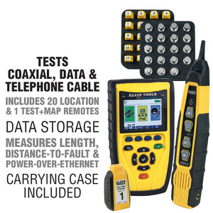 Klein VDV501829 Commander VDV Cable Tester w/ Test-n-Map Remote Kit