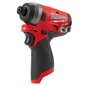 "Milwaukee 2553-80 M12 12V 1/4"" FUEL Hex Impact Driver - Bare Tool Reconditioned"