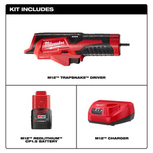 Milwaukee 2575-21 M12 12V TRAPSNAKE Driver Upgrade Kit For 6' M12 Toilet Auger