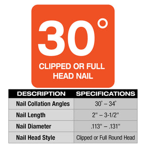 Milwaukee 2745-20 M18 FUEL 18V 30 Degree Lithium-Ion Framing Nailer - Bare Tool