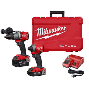 Milwaukee 2997-22CXC M18 Fuel 18 Volt 2 Tool Driver Brushless Compact Combo Kit