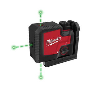 Milwaukee 3510-21 REDLITHIUM USB Rechargeable Cordless Green 3-Point Laser