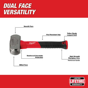 Milwaukee 48-22-9310 3 lbs Drilling Hammer w/ Milled/Smooth Face
