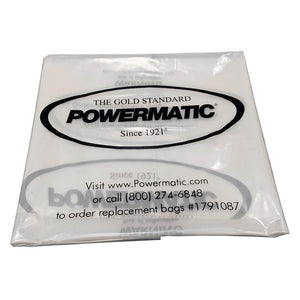 "Powermatic 1791087 20"" Clear Collection Bags (Pack of 5)"
