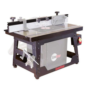 SawStop RT-BT 27 Inch x 16 Inch Cast Iron Benchtop Router Table Assembly