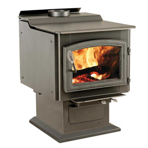 Ashley Hearth Products AW3200E-P 3200 Sq-Ft Pedastal Wood Burning Stove w/Blower