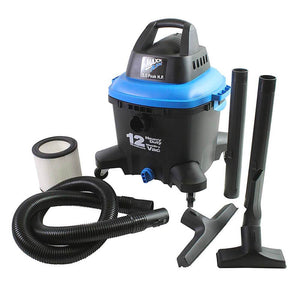 Ventamatic WDV12 12 Gallon 5.5 HP MaxxAir Corded Commercial Wet/Dry Vacuum