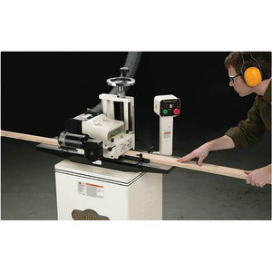 "Shop Fox W1812 2 Hp 7"" Variable Speed Planer/Moulder w/ Stand & Cast Iron Wings"