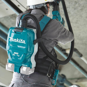 Makita XCV10ZX 36 Volt X2 1/2 Gallon Backpack Dry Dust Vacuum, Bare Tool