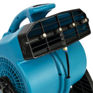 XPOWER FM-48 600-Cfm 1/8-Hp 3-Speed Portable Outdoor Cooling Misting Fan