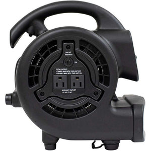 XPOWER P-80A-Black 600 CFM Multipurpose Mini Mighty Utility Air Mover Blower