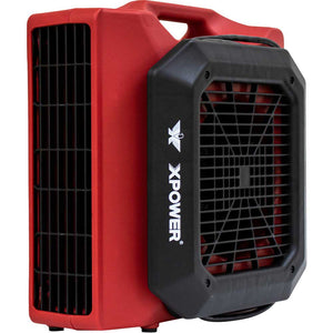 XPOWER PL-700A-Red 1/3 HP 1050 CFM 3 Speed Low Profile Air Mover Fan