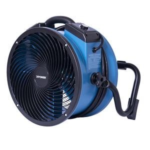 Xpower X-39AR 120 Volt 1/4-Hp 2100 Cfm Sealed Industrial Axial Air Mover, Blue