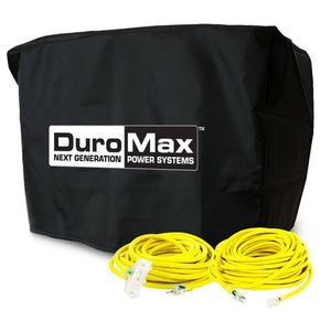 DuroMax Small Generator Cords and Cover Starter Kit (Fits 5,500 Watt Units and  Lower)