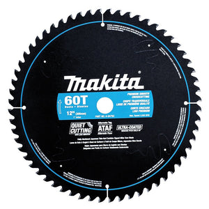 Makita A-94792 12-Inch 60-Tooth Ultra Coated Quiet Cutting Miter Saw Blade