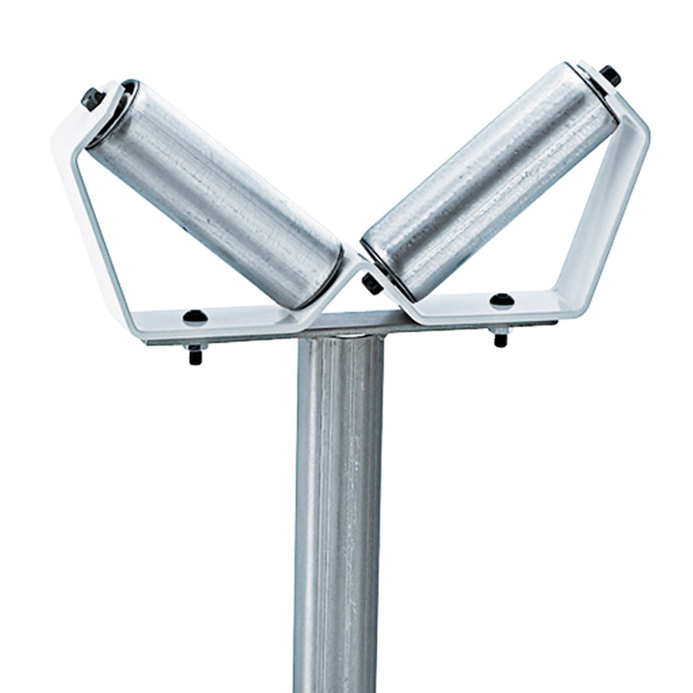 HTC HSV-18 6-Inch Double Ball Bearing Roller V-Shaped Pipe Roller Stand