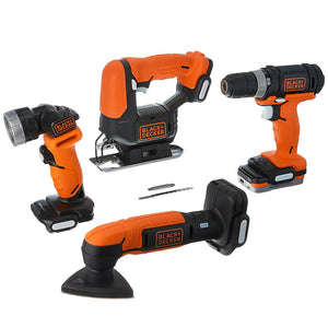 Black and Decker BDCK502C1 12-Volt 4-Tool GoPak Drill/Jig/Sander/Light Combo Kit