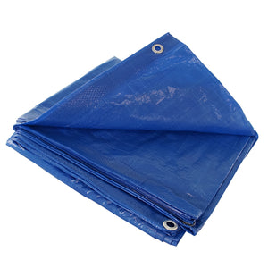 Blue 25x25 Heavy Duty UV Protected Treated Canopy Sun Shade Boat Cover Tarp
