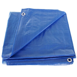 Blue 12x16 Heavy Duty UV Protected Treated Canopy Sun Shade Boat Cover Tarp